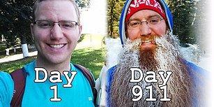 911 Gün Boyunca Eşiyle Birlikte Dünyayı Dolaşan Adamın Gün Gün Uzayan Sakalları