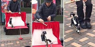 Michael Jackson'ın Kuklasını Oynatan Sokak Sanatçısından Muhteşem Performans