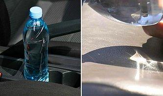 İngiliz İtfaiyecilerden Uyarı: Sıcak Günlerde Aracınızda Plastik Su Şişesi Bırakmayın!
