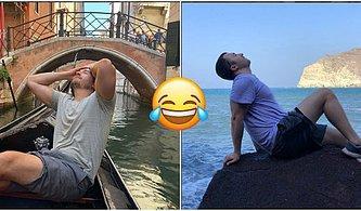 Verdiği Pozlarla Instagram Modellerini Trolleyen Genç Adamın Fotoğraflarını Görünce Çok Güleceksiniz!