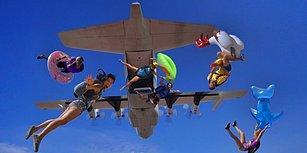 Paraşütle Birlikte Uçaktan Atlayıp Dünyanın En Uzun 'Slip and Slide'ını Gerçekleştiren Çılgın Ekip