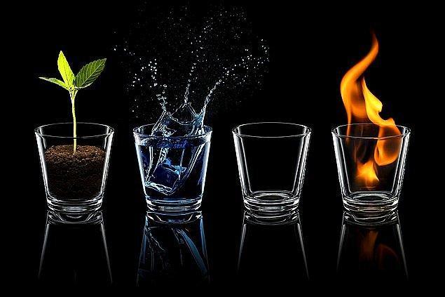 9. Bu dört elementten birini seçer misin?