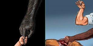Azerbaycanlı Sanatçı Gunduz Aghayev'in, 1000 Yıl Öncesiyle Bugünü Kıyasladığı Çarpıcı İllüstrasyonlar