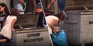 Bu Görüntülere Yürek Dayanmaz: Çorum'da Geçimini Sağlayabilmek İçin Çöpten Pet Şişe Toplayan Ufaklık