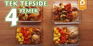 Akşam Yemeğinde Ne Pişirsem Derdine Son! Tek Tepside 4  Yemek Nasıl Yapılır?
