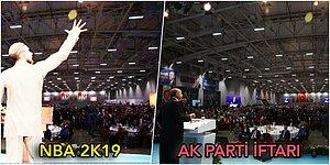 Dünyaca Ünlü Basketbol Oyununda AK Parti'nin Yenikapı İftarından Bir Kare Kullanıldı mı?