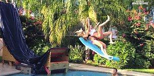 Havuzu Standart Bir Şekilde Yüzmenin Dışında Kullanan İnsanlardan Harika Hareketler!