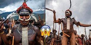 Erkeklerin Cinsel Organlarına Kılıf Takıp Savaş Dansları Yaptığı Endonezyalı Dani Kabilesi