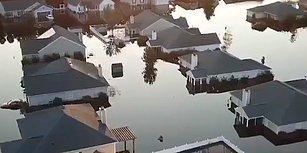 Florence Kasırgası Sonrası Zor Günler Geçiren Güney Karolina'da Sular Altında Kalan Yerleşim Yerleri