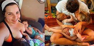 Aynı Anda İki Bebeğini de Emzirerek Fedakarlığın Kitabını Yazan 14 Süper Anne