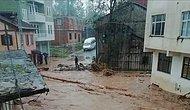 Sağanak Yağış Doğu Karadeniz'i Vurdu: Dereler Taştı, Heyelan Yolları Kapattı