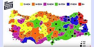 Bir Seks İşçisinin Gözünden Türkiye'nin İl İl Ortalama Penis Boyu Haritası