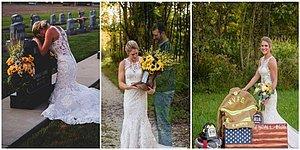 Düğünlerinden 10 Ay Önce Kaybettiği Nişanlısının Mezarına Giderek Düğün Fotoğrafları Çektiren Kadın