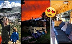 Yüzlerce Kişinin Öldüğü Depremde Enkaz Altından Kurtulduktan Sonra Kendi Yaptıkları Karavanla Tüm Yeni Zelanda'yı Gezen Aile