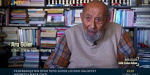 Ölümünden 15 Gün Önce Yaptığı Röportajının da Yer Aldığı Ara Güler Belgeseli: Islık Çalan Adam