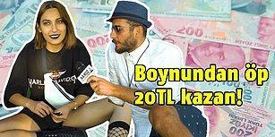 Bir Yabancıyı Boynundan Öp 20TL Kazan!
