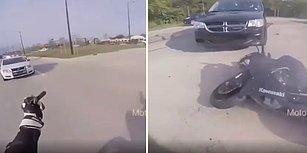 Polise Parmak Hareketi Çeken Motosikletlinin Hazin Sonu