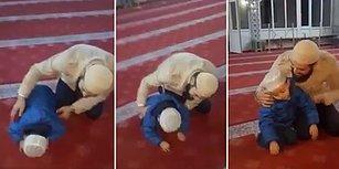 Babasıyla Birlikte Gittiği Camide Secdedeyken Uyuya Kalan Ufaklık