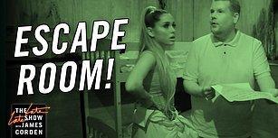 Ariana Grande ile Birlikte Korku Evine Giden James Corden'dan Muhteşem Eğlenceli Görüntüler