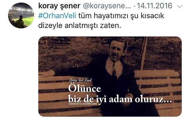Ve geriye, Koray Şener'in Twitter hesabında paylaştığı, yürek burkan paylaşımlar kaldı...