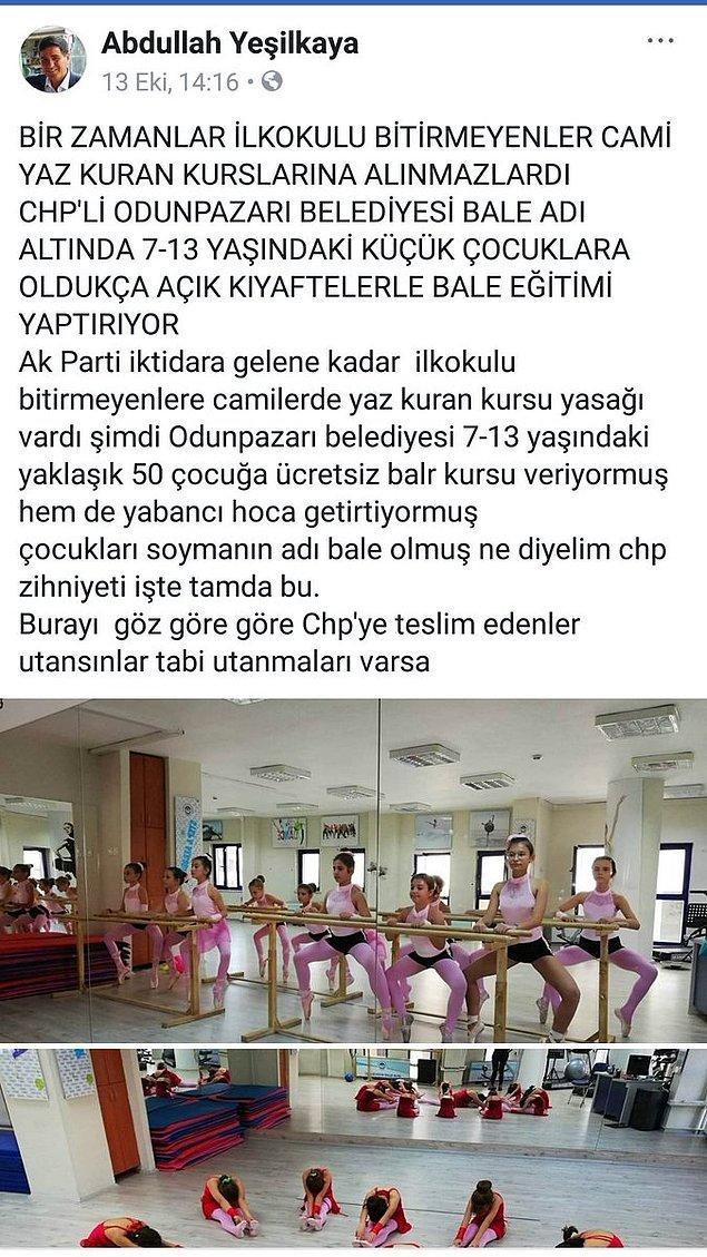 Eskişehir'de yerel gazeteci olduğu belirtilen Abdullah Yeşilkaya şu paylaşımda bulunmuştu 👇
