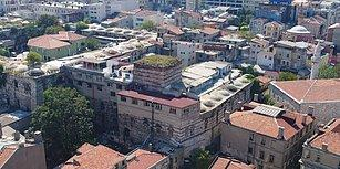 Bizans'tan Kalma Tarihi Eirene Kulesi'ndeki Tahribatı Görüntüleyen Drone'a Ateş Açtılar!
