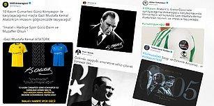 Mustafa Kemal Atatürk'e Büyük Özlemle! Spor Camiasından 10 Kasım Mesajları