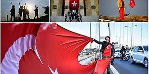 9'u 5 Geçe Hayat Durdu: Tüm Yurttan Atatürk'ü Anma Kareleri