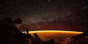 Olağanüstü Bir Manzara! NASA Astronotlarından Biri Dünya'yı Saran Turuncu Parlak Işığı Fotoğrafladı