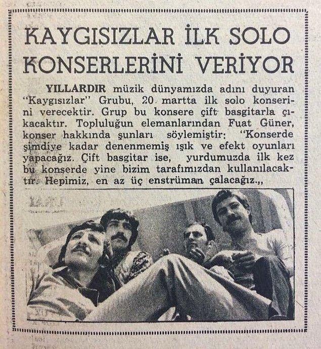 """Bu iki müzisyenin yolları 1960'larda müzik yapan bir Türk rock grubu olan """"Kaygısızlar"""" isimli grupla birleşmişti."""