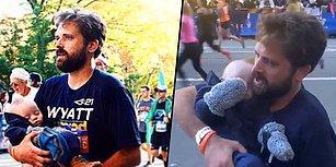 Katıldığı Maraton Yarışını Kucağında Down Sendromlu Çocuğunu Taşıyarak Bitiren Baba!