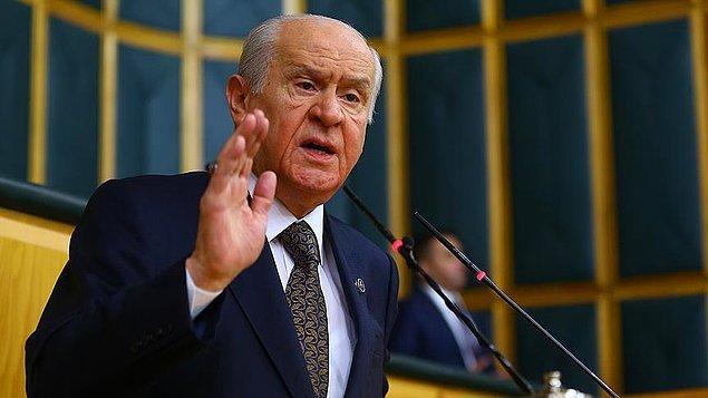 """MHP lideri Devlet Bahçeli, temyiz dilekçesini eleştirmiş """"Türkleri millet bilincine en geç ulaşan topluluk olarak değerlendirmek tarih inkarı, tarih ihmali, tarih ihanetidir"""" demişti."""