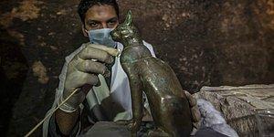 Bilim İnsanları Mısır'da Antik Çağ'dan Kalma Onlarca Kedi Mumyası ve Kedi Heykeli Buldu!