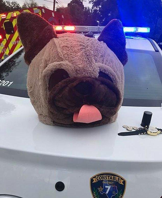 """18. """"Teksas'ta bir kadın bu dev köpek kostümü maskesi ile bir süpermarketi soymaya çalışmış."""""""