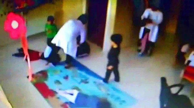 21. Bunu nasıl açıkladınız? - Dans eden çocukları tekmeleyen, kafalarına terlikle vuran kreş görevlileri