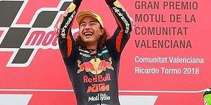 Moto GP 3'te Tarihi Başarı! 15 Yaşındaki Genç Sporcumuz Can Öncü İlk Yarışında Zafere Ulaştı