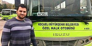 Kocaeli'de İnsanlık Dersi! Halk Otobüsü Şoförü Yakup Sağlam Engelli Çocuk İçin Güzergâhını Değiştirdi