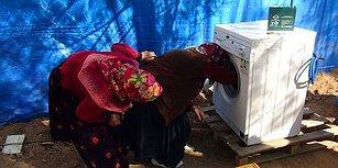 Hayatlarında İlk Kez Çamaşır Makinesi Gören Kadınlar!