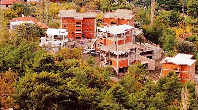 İmar barışının ardından Kaş'ta 500'e yakın villa inşaatı başladı