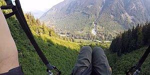 Binlerce Metreden Aşağıya İnen Paraşütçünün İzlerken Hayran Kalacağınız Mükemmel Görüntüleri