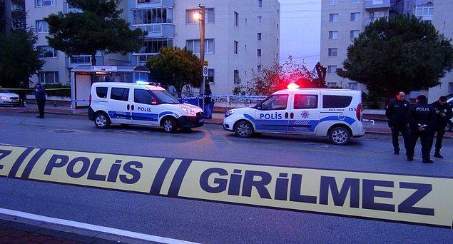 Olay yeri güvenlik şeridiyle çevrildi, inceleme yapıldı.