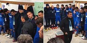 Futbolcuları Maça Hazırlarken Acayip Gaza Getiren Sarıyer Teknik Direktörü