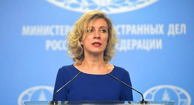 Dışişleri Bakanlığı Sözcüsü Zaharova: 'Haydut metodu ile önce provokasyon, sonra zorlayıcı baskı, ardından da saldırganlık suçlaması'