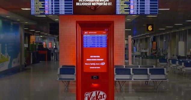 8. Sao Paulo'da yolcuların uçakları rötar yaptığı zaman KitKat hediye ediliyor.