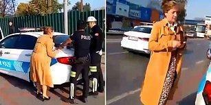 Ehliyetsiz Araç Kullanırken Yakalanan Öğretmen Çığlık Atarak Kendinden Geçti!