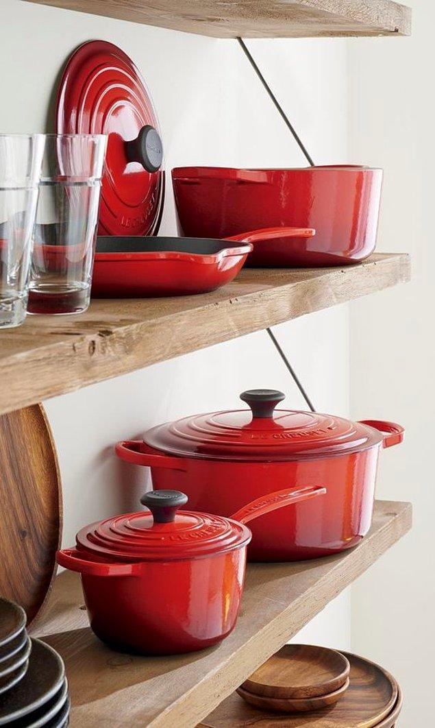 12. Kırmızı olmadan mutfağımı düşünemem diyenlere...