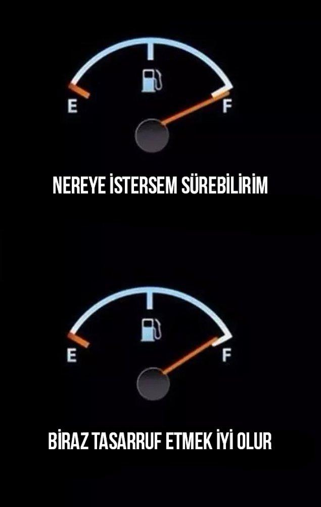 15. Benzin hepimizin yarası.