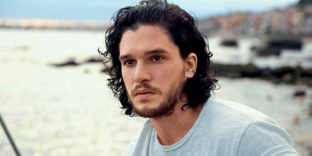 4. Game Of Thrones'un yakışıklı oyuncusu Kit Harington, tam bir esmer yakışıklısı vallahi.