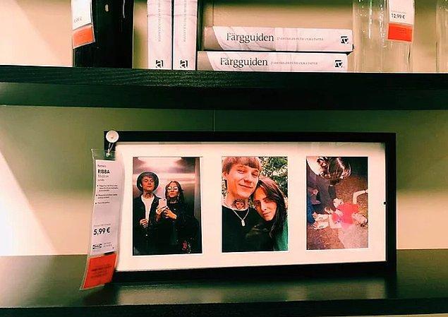 3. IKEA'da Satılan Çerçevelerdeki Sıkıcı Fotoğrafları Kendi Fotoğrafları ile Değiştiren Çift