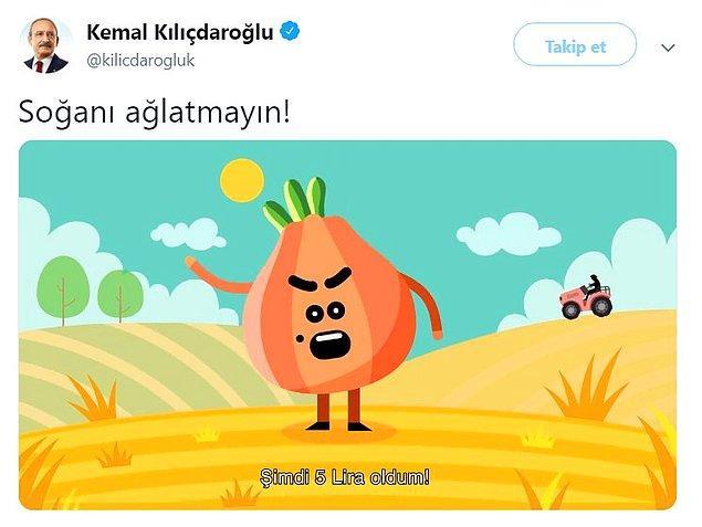1. Soğanı konuşturan Kılıçdaroğlu.